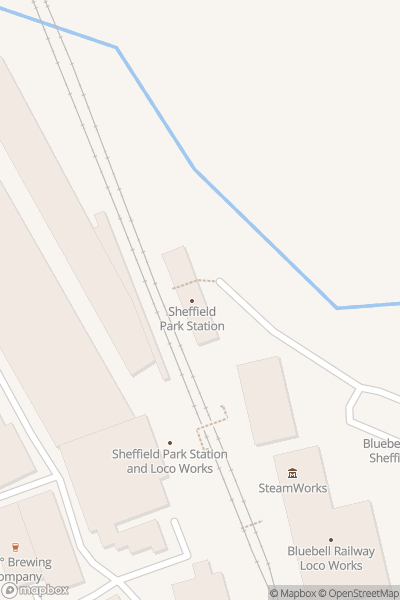 A map indicating the location of Bluebell Railway