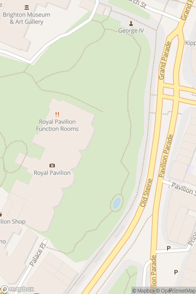 A map indicating the location of Brighton Digital Festival
