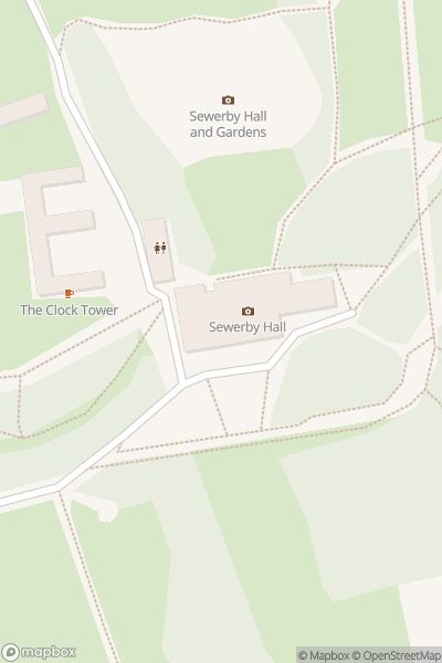 A map indicating the location of Sewerby Hall & Gardens