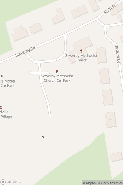 A map indicating the location of Bondville Model Village