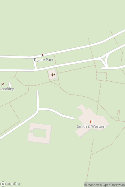 A map indicating the location of Tilgate Park
