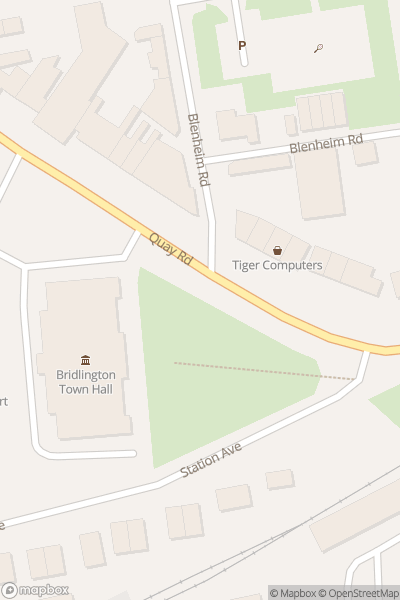A map indicating the location of Bridlington & Flamborough