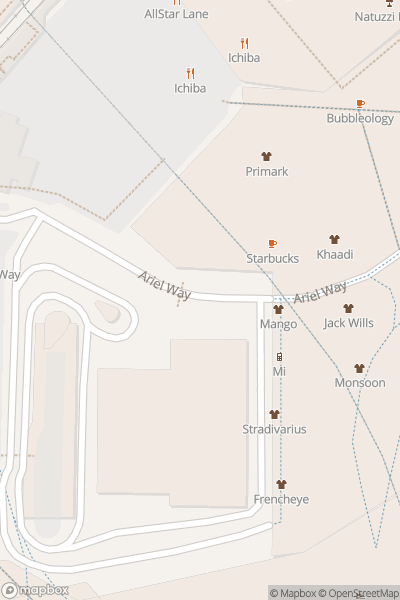 A map indicating the location of Westfield Shopping Centre