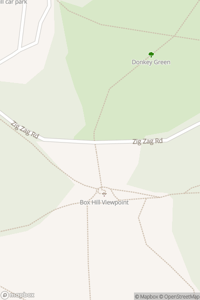 A map indicating the location of Box Hill
