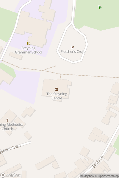 A map indicating the location of Steyning Scandals Walk