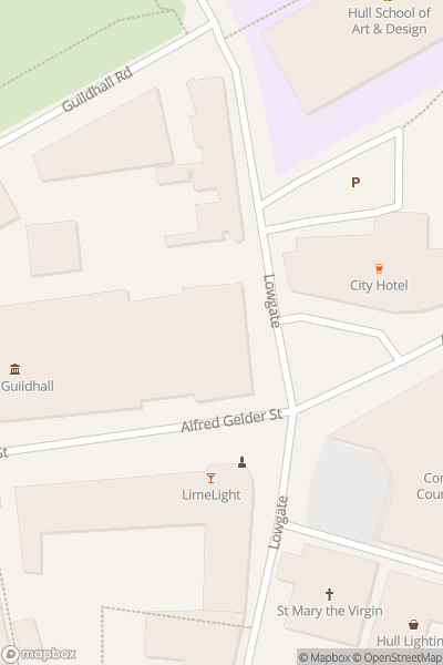 A map indicating the location of Hull Brickfest Lego Fan Event