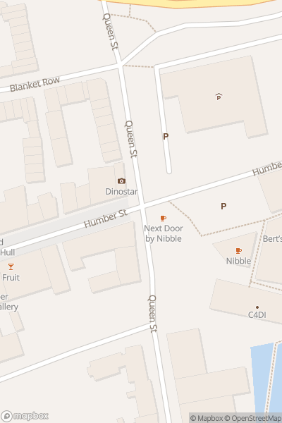 A map indicating the location of Humber Street & Hull Marina