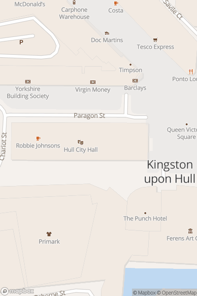 A map indicating the location of Hull Old Town Guided Walks