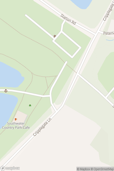 A map indicating the location of Southwater Country Park