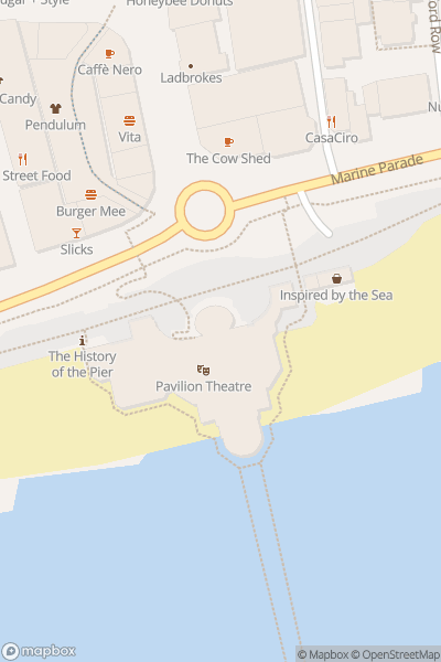 A map indicating the location of Worthing