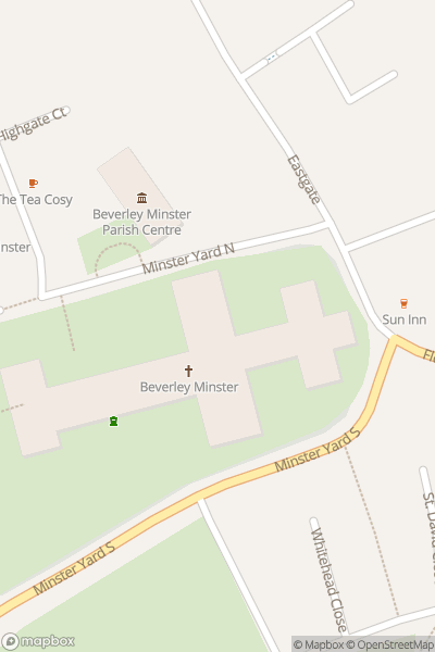 A map indicating the location of Beverley Gin Festival