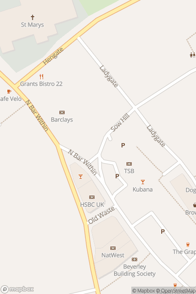 A map indicating the location of Beverley