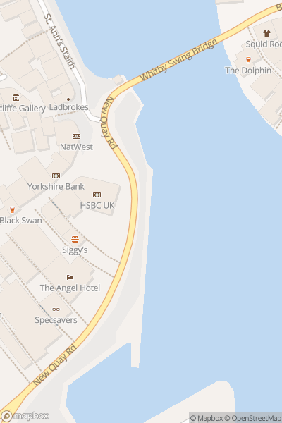 A map indicating the location of Whitby