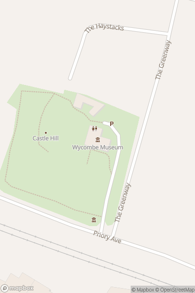 A map indicating the location of Wycombe Museum