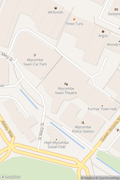 A map indicating the location of Wycombe Swan Theatre