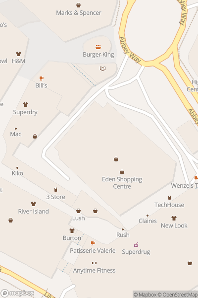 A map indicating the location of Shopping at Eden