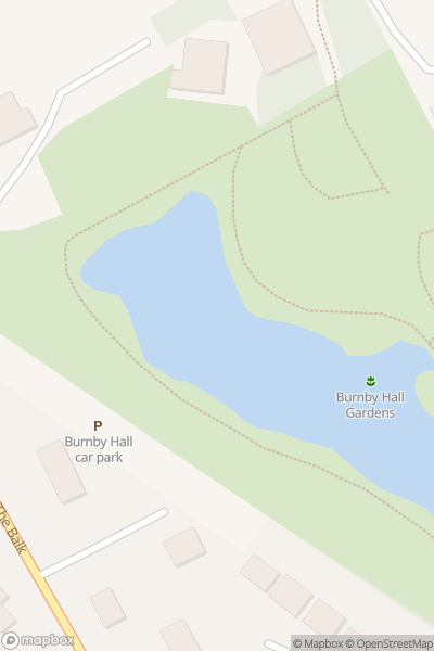 A map indicating the location of Time Travellers at Burnby Hall Gardens