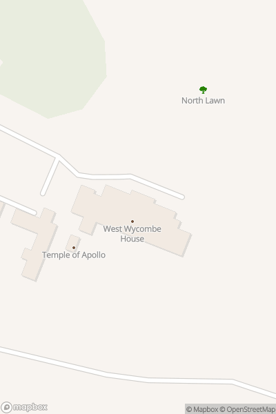 A map indicating the location of West Wycombe Park