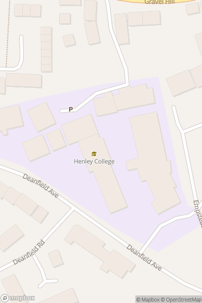 A map indicating the location of Henley College
