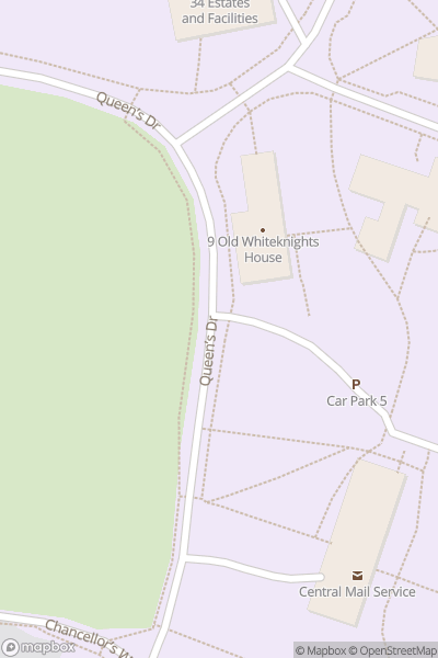 A map indicating the location of University of Reading