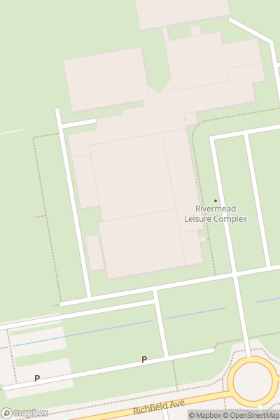 A map indicating the location of Reading Comic Con
