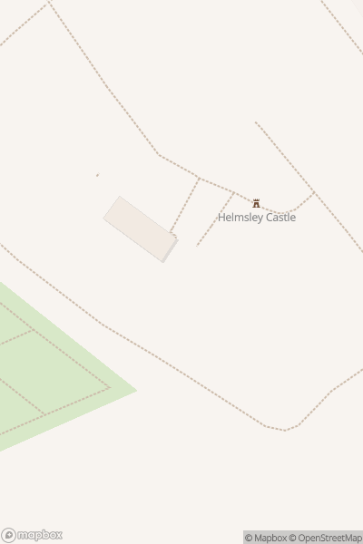 A map indicating the location of Helmsley Castle