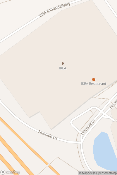 A map indicating the location of IKEA Calcot