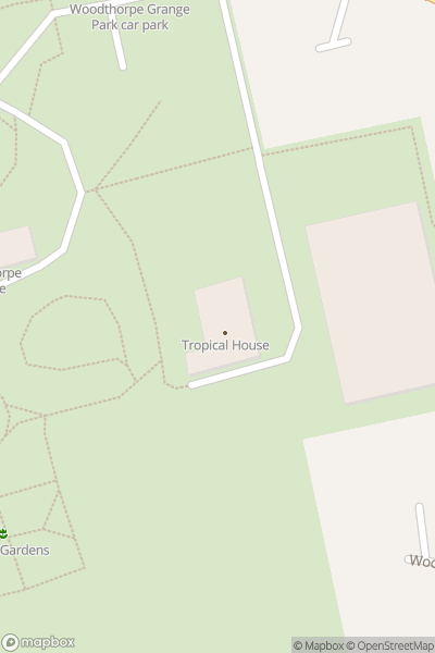A map indicating the location of Woodthorpe Park Plant Shop and Tropical House