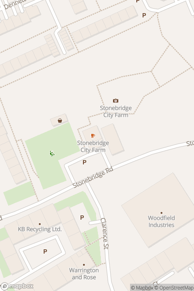 A map indicating the location of Stonebridge City Farm