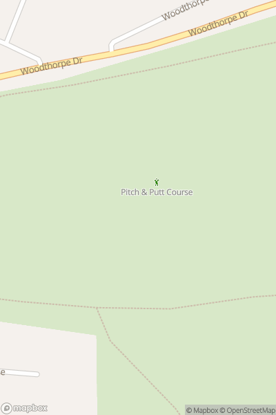 A map indicating the location of Woodthorpe Grange Park