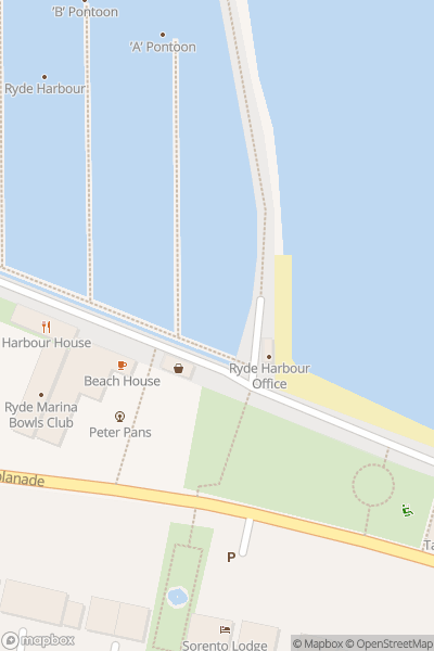 A map indicating the location of Ryde Beach
