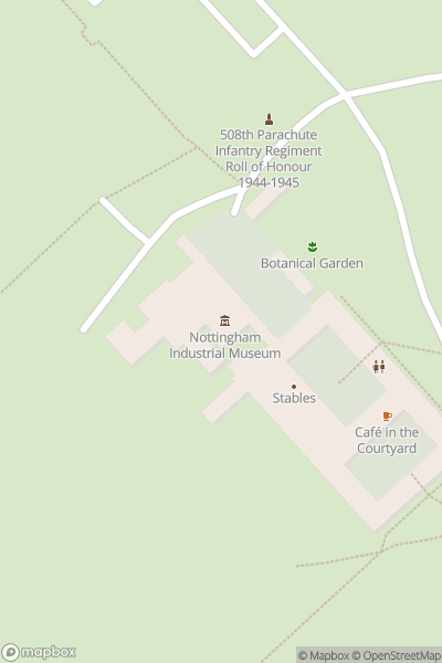 A map indicating the location of Nottingham Industrial Museum