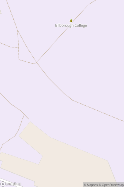 A map indicating the location of Bilborough College