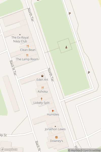 A map indicating the location of Seaham Food Festival