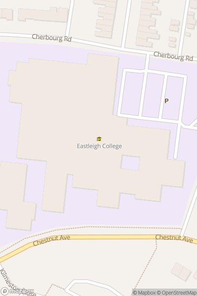 A map indicating the location of Eastleigh College