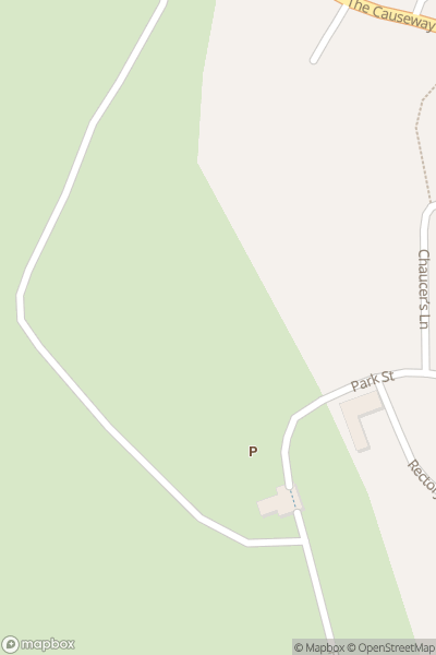 A map indicating the location of Blenheim Palace