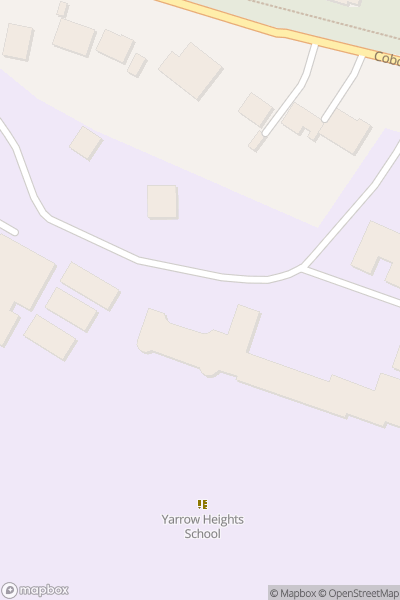 A map indicating the location of St Marys College