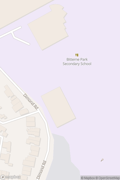 A map indicating the location of Bitterne Park School