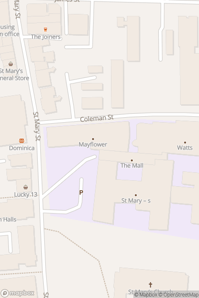 A map indicating the location of Southampton City College