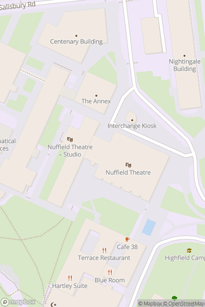 A map indicating the location of Basil Brush's Family Fun Show