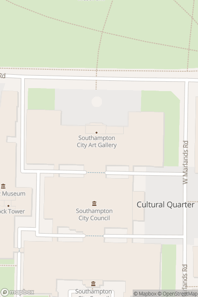 A map indicating the location of Southampton City Art Gallery