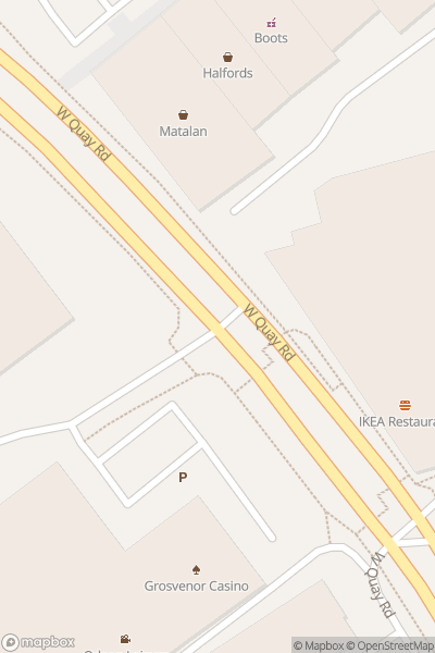 A map indicating the location of Odeon Southampton