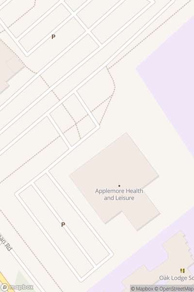 A map indicating the location of Applemore Health & Leisure Centre - Covid19 Vaccination Centre