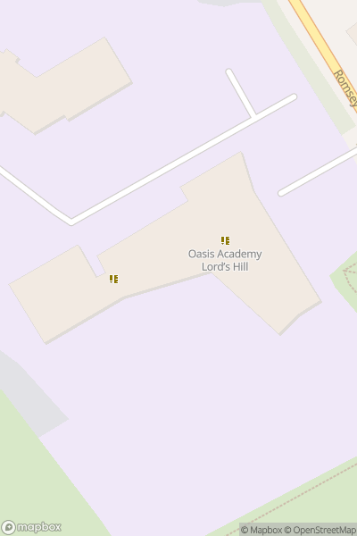 A map indicating the location of Oasis Academy