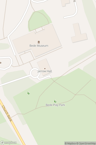 A map indicating the location of Jarrow Hall