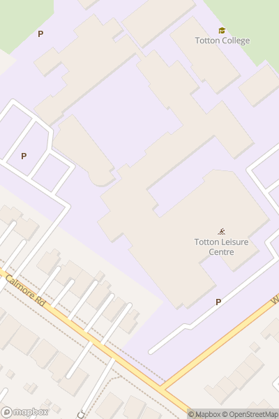 A map indicating the location of Totton College