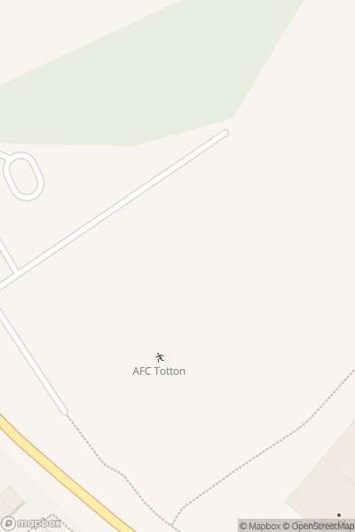 A map indicating the location of AFC Totton - Covid19 Vaccination Centre
