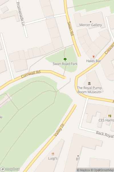 A map indicating the location of #Walkshire - Valley Gardens, Harrogate to RHS Harlow Carr walk