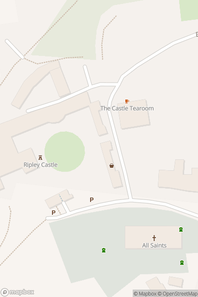 A map indicating the location of Ripley Castle & Gardens