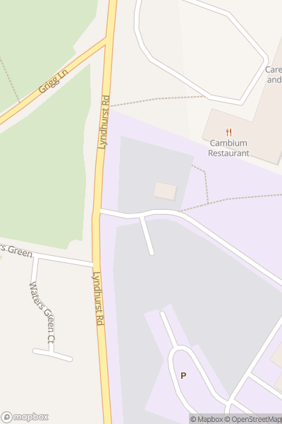 A map indicating the location of Brockenhurst College